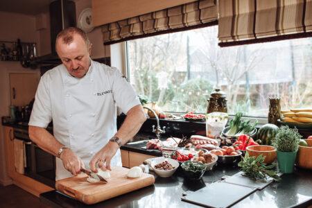 Jason cutting onions